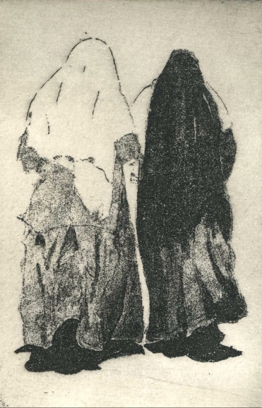 blog The nun and the novice etching ed. 30 12.5 x 8 cm £90