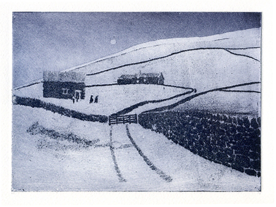 1P. SocAA 11 2017 York Moors Winter etching and aquatint 72dpi £150