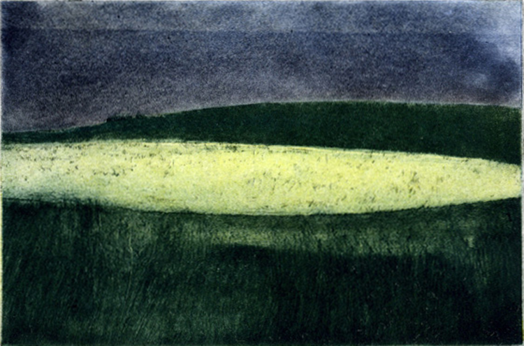 blog SocAA 11 2017 yellow field ll colour etching ed. VE 30 13 x 17 cm £180 72BLOG