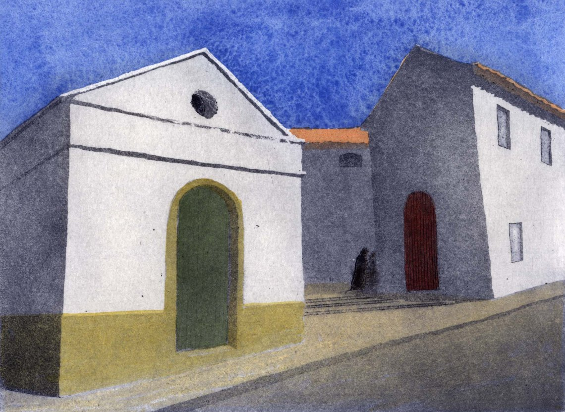 Sanlucar bodegas hand-coloured etching and aquatint 300dpi £220