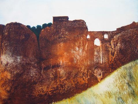 Puente Nuova -Ronda, colour etching VE , 30x40 cm jpeg 72dpi