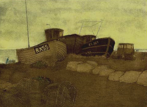 Hastings state 6 monoprint 2 plate wiped in Umber and rolled in yellow72dpi