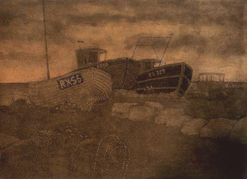Hastings state 6 monoprint 5 wiped in black with pale orange roll 72dpi